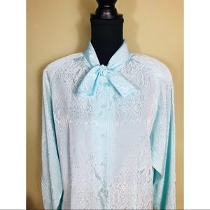 Vintage The Wyndham Collection neck tie blouse
